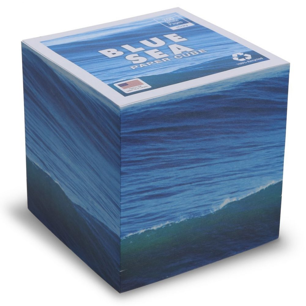 "STICKY 3.5"" Blue Sea Note Cube"