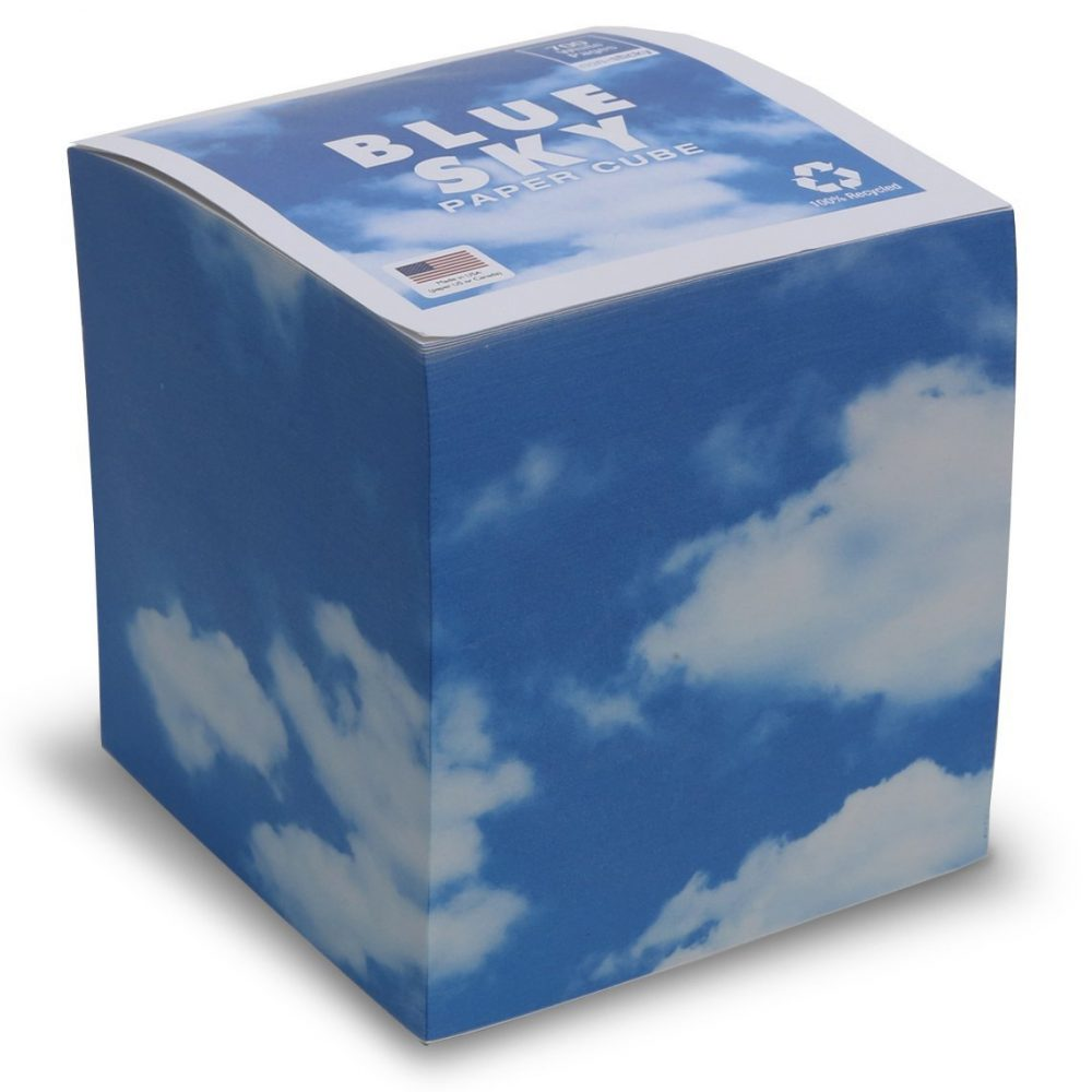 "NOT STICKY 3.5"" Blue Sky Note Cube"