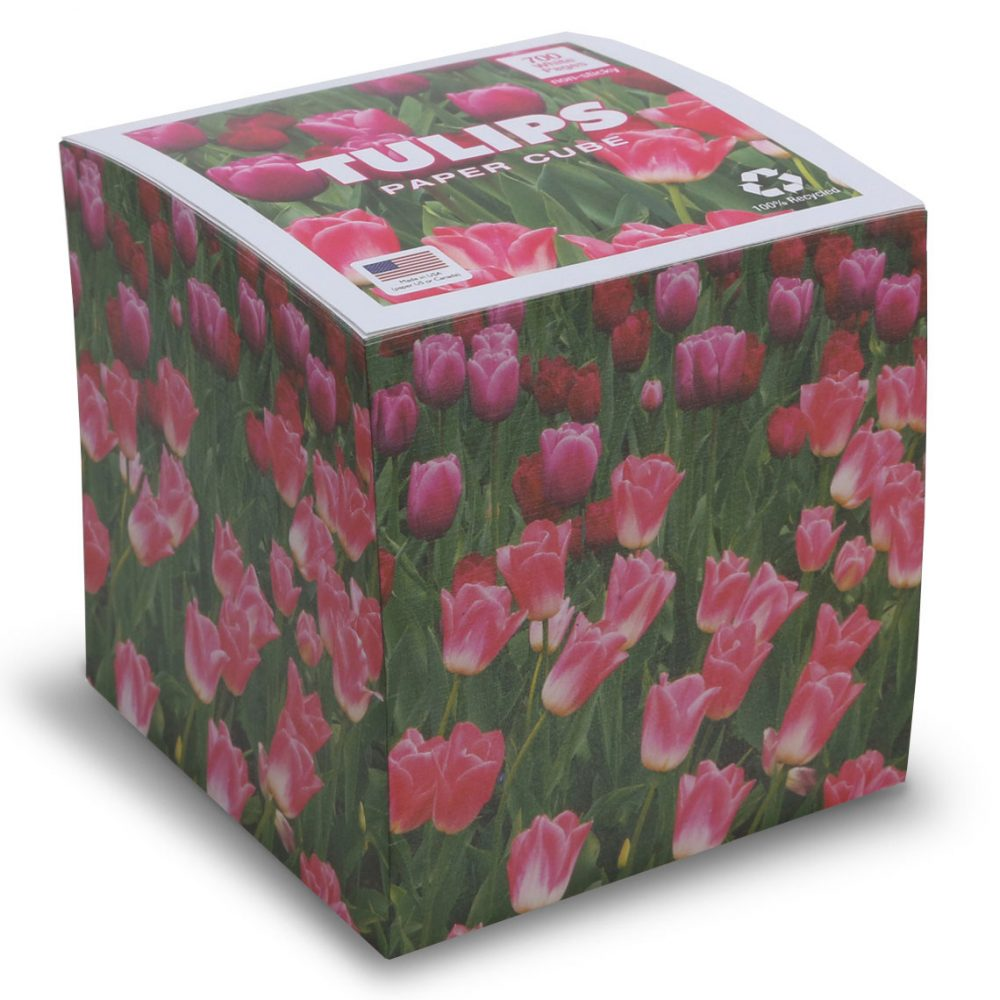 "NOT STICKY 3.5"" Tulips Note Cube"