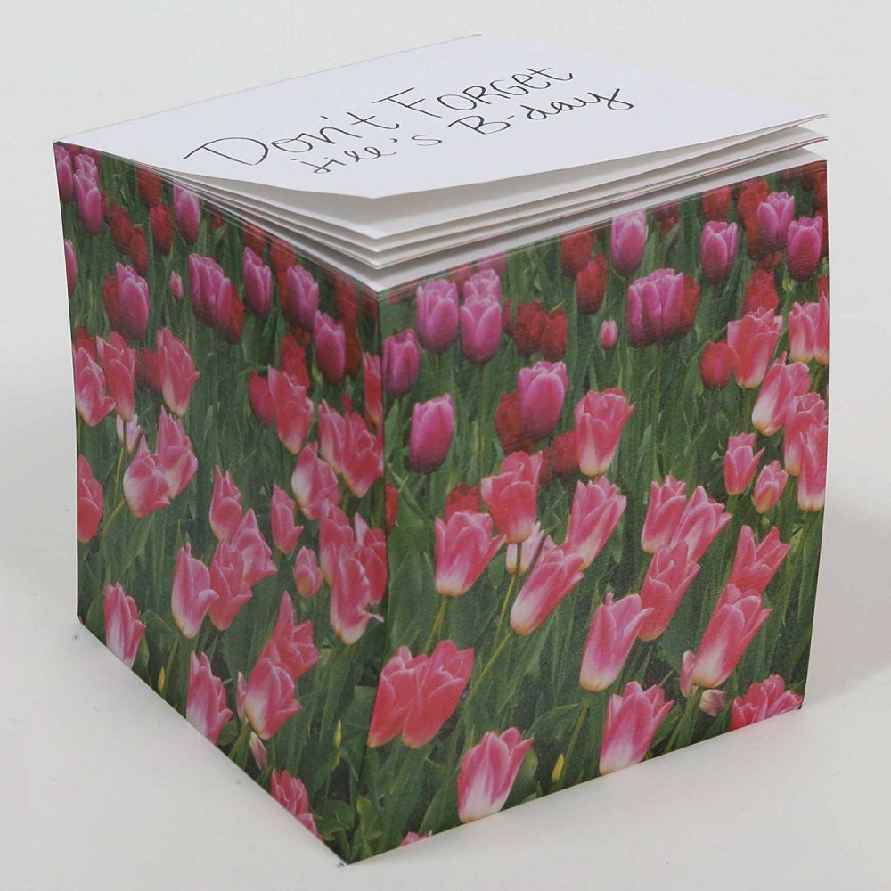 "NOT STICKY 3.5"" Tulips Note Cube Alternate"